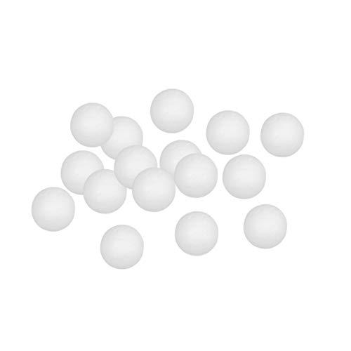 Supvox 100pcs Styropor Kugeln Schaumstoffkugeln Weihnachtskugel Styroporbälle für DIY Basteln Handwerk Weihnachtskugel Weihnachten Dekoration (Solide 2cm)