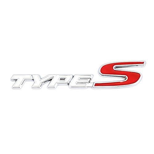 Para Honda Type S Sport Logo Civic Accord Crv Hrv CITY CRIDER logotipo del emblema de la parrilla delantera,accesorios para el automóvil Insignia Placa de identificación Car Styling Bonnet Logo