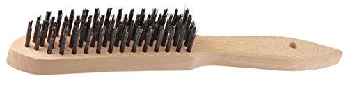 FMprofessional Drahtbürste, hochwertige Bürste mit Holzgriff zur Reinigung des Grillrosts, Grillbürste mit Drahtborsten (Maße: 28 x 3,4 cm) Menge: 1 Stück