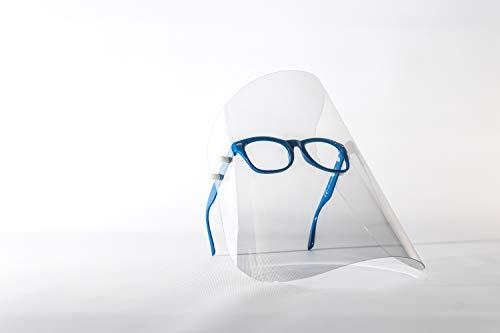 Gesichtsschutzschirm, Gesichtsschutz, Gesichtsmaske, Schutzmaske, Industriemaske, Augenschutz, Kunststoffmaske, Maske mit Brille, sterile Maske, 7 Farbe, hergestellt in der EU (1 Pack, Navy Blue)
