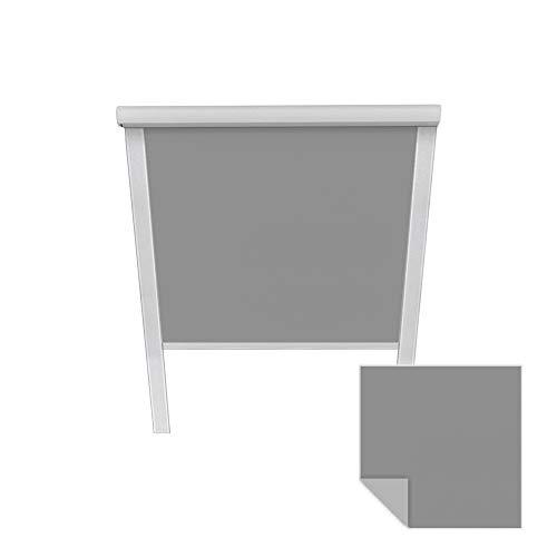 Victoria M. Verdunkelungsrollo passend für Velux-Dachfenster M06 306 grau