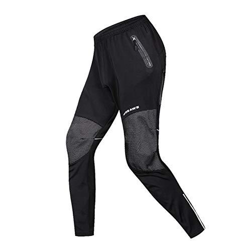 LHY Pantalons De Cyclisme d'hiver, Pantalon De Cyclisme Chaud en Polaire De Cyclisme sur Route, Pantalon VTT Réfléchissant,XL