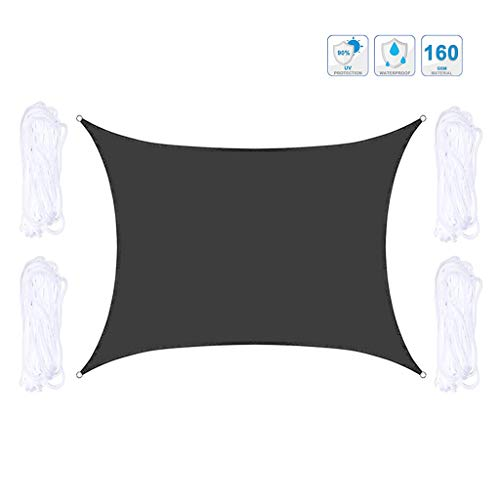 Sun Shade sail Equilateral Square 3.6m x 3.6m Canopy, UV Block Sun Permeable Fabric,Durable Perfect Waterproof Oxford Cloth for Outdoor Patio Garden