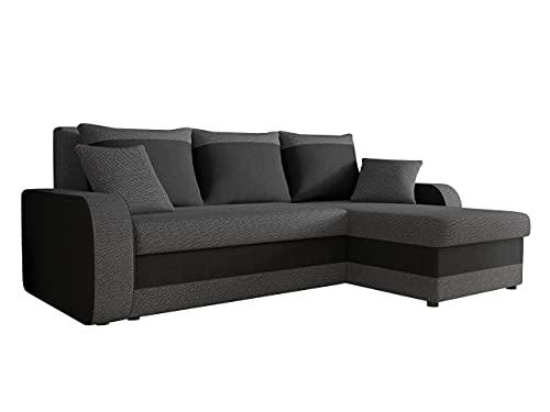 Ecksofa Kristofer Lux, Eckcouch Couch! mit Schlaffunktion, Zwei Bettkasten, Farbauswahl, Wohnlandschaft! Bettfunktion! Design L-Form Sofa! Seite Universal! (Boss 12 + Boss 14.)