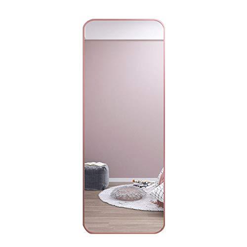 SHU XIN Specchio a Figura Intera Specchio a Parete Design ad Angolo Rotondo Specchio ad Alta Definizione Cornice in Lega di Alluminio 40 * 120 cm Oro/Nero/Oro Rosa