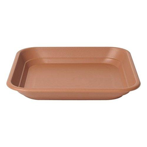 Stewart - Sottovaso Quadrato, Colore: Terracotta, 40 cm