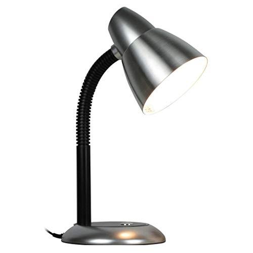 Led-bureaulamp voor het leren werk, leeslamp, E27, verwisselbare lamp, tafellamp met 1,6 m draadstekker in leeslamp, voor thuis boeken, bed en hoofdbord, oogvriendelijke tafellamp
