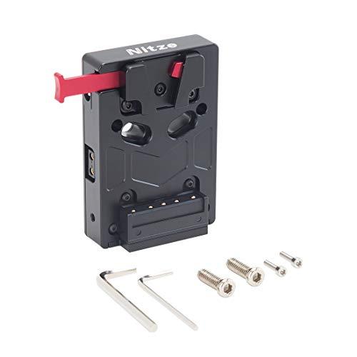 Nitze V-Mount-Batterieplatte kompatibel mit Allen V-Mount-Batterien Mini-V-Mount-Platte (ohne Batterie) -N21-D1