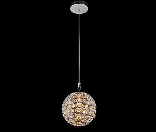 ♪ Elegante ronde bolvormige kroonluchter kristal moderne grote plafond Easy Fit lamp druppelreiniger lampenkap oorbellen druppels regendruppels E14 enkele hoofd lamp hanger elegante ronde voor woonkamer slaapkamer