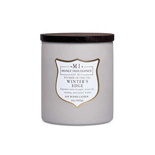 Manly Indulgence Winters Edge Scented Soy Blend Candle - 16 oz
