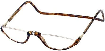 Clic Sonoma Single Vision Half Frame Designer Reading Glasses, Light Tortoise, +2.50 by CliC
