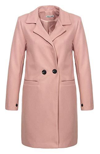 Malito Damen Kurzmantel   edle Jacke mit Knöpfen   schicke Übergangjacke   Jacke mit Taschen 19691 (rosa, L)