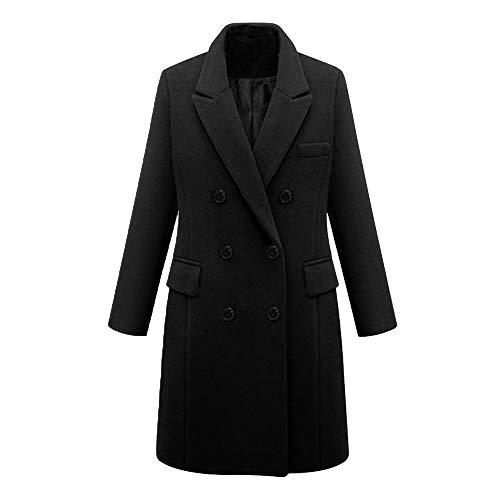 Homebaby Cappotto Donna Invernale in Lana Vintage Offerta Elegante Caldo Taglie Forti Giacca in Pelliccia Sintetica Autunnale Cappotto Classico Giubbotto Outwear