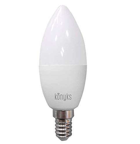 Konyks Antalya E14WR, Ampoule connectée LED RGB WiFi, E14, 350 Lumens, 4.5W, 16 millions de couleurs, compatible avec Alexa ou Google Home, aucun Hub nécessaire, Automatisations faciles