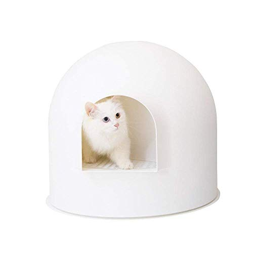 pidan Studio Snow House Igloo Cat Litter Box, Red Dot Design Award Winner, White