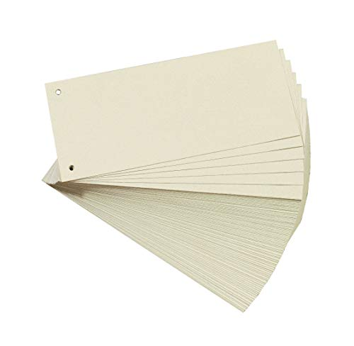 Herlitz Carton - Separadores para archivadores A4 (Paquete de 100)