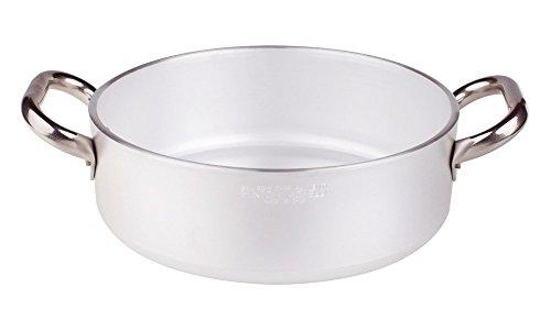 Pentole Agnelli ALMR110645 Linea Alluminio Professionale 5 mm, Casseruola Cilindrica Bassa Radiante, 32 L