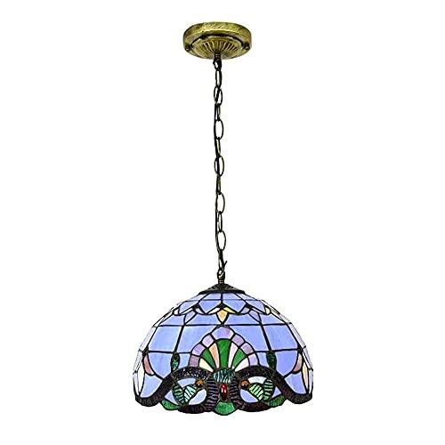 Lamparas De Mesa Salón Tiffany Azul Marca YIYISENH