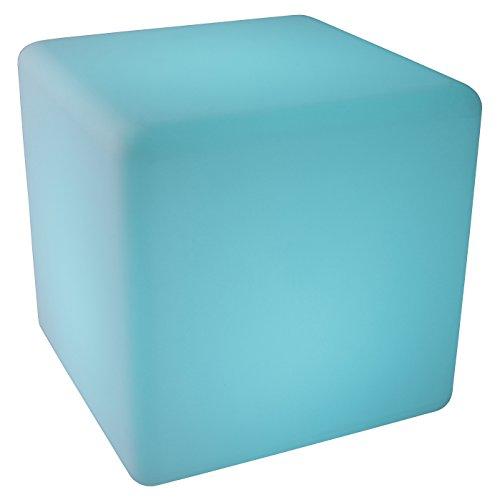 LED-Highlights Leuchtwürfel Outdoor Led Würfel 40x40 cm Akku Kabellos Farbwechsel Bunt Fernbedienung Led Sitzwürfel Led Hocker Tisch Cube