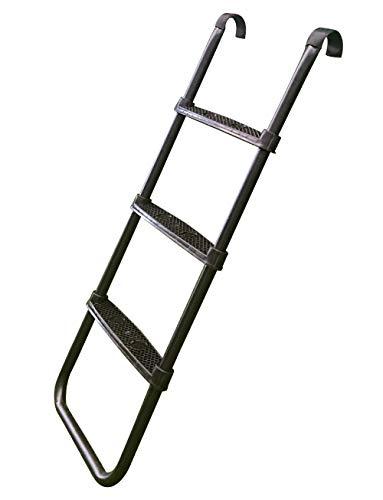 Jumptastic Trampoline Ladder with 3 Wide Skid-Proof Steps Universal Trampoline Accessories for Kids