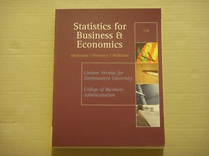 Statistics for Business and Economics 11th (Eleventh) Edition - Custom