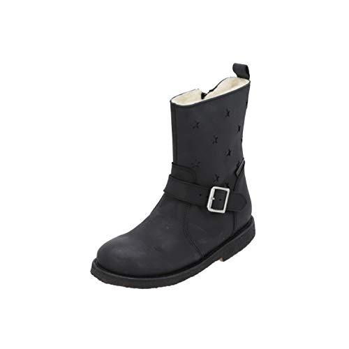 Angulus Boot Wool Kinder Mädchen Stiefel Schwarz Schnür-Stiefelette Winter, Größe:EUR 30