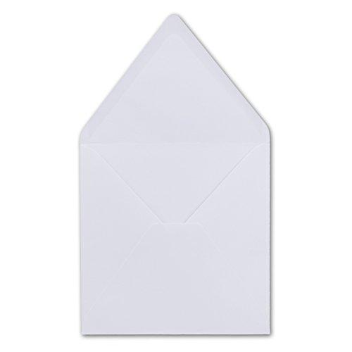 25 Quadratische Briefumschläge Hochweiss 15,5 x 15,5 cm 100 g/m² Nassklebung Post-Umschläge ohne Fenster ideal für Weihnachten Grußkarten Einladungen von Ihrem Glüxx-Agent
