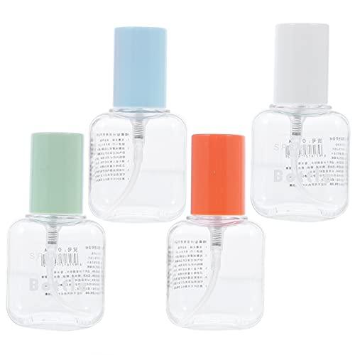 FRCOLOR 12 Unidades 60Ml Botella de Perfume Vacía Tubos de Tóner de Perfume Transparentes Dispensador de Aceite Esencial Recargable Portátil Contenedor de Vial Cosmético de Viaje