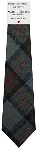 I Luv Ltd Cravate en Laine pour Homme Tissée et Fabriquée en Ecosse à MacLeod of Harris Weathered Tartan