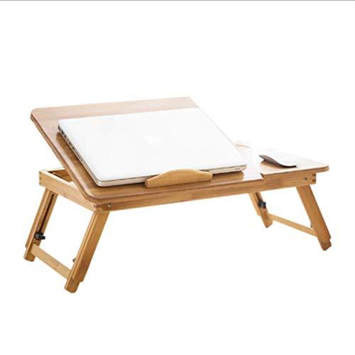 HYY-YY Mesa plegable perezoso pequeño escritorio mini estudiante portátil mesa de ordenador, sofá cama 50x30x23/32cm mesa plegable