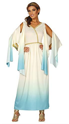 Fiestas Guirca Kostüm weiß und blau Frau griechische gÖttin des Olymp grÖsse l