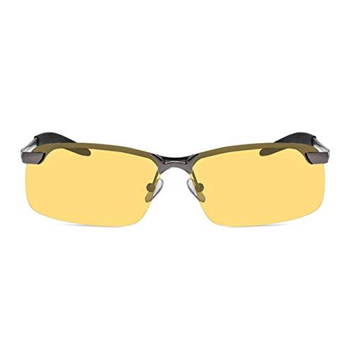 CVMW Gafas de sol polarizadas para hombre, cambio de color de visión nocturna, gafas de conducción al aire libre gafas de pistola marco visión nocturna
