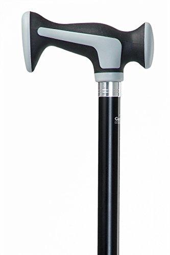 Designer Gehstock Spazierstock SCORT mit Softkerngriff zur Entlastung der Handgelenke / höhenverstellbar