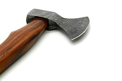 "Nooraki CH85 Custom Handmade Damascus Steel Axe Tomahawk Hatchet with Leather Sheath 14 Inch"" 256 Layers"