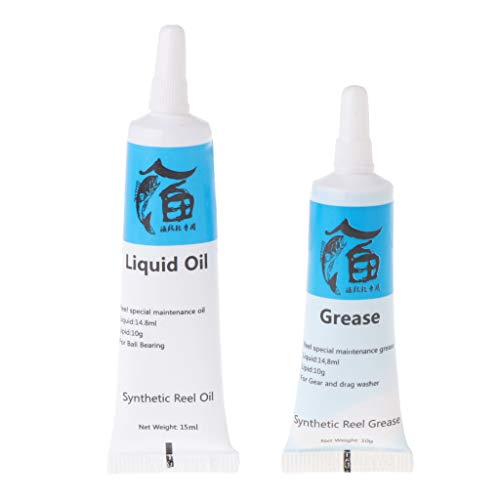 Bingxue 1 Juego de Aceite de lubricación de Carrete de Pesca y Suministro de Mantenimiento de cojinetes de lubricación de Grasa