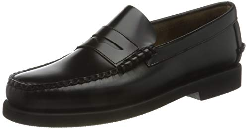 Sebago Dan Polaris, Mocasines (Loafer) para Hombre, Negro (Noir Black 902), 44.5 EU