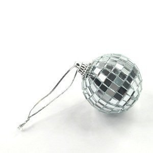 18 pcs 1.8 Inch Disco Ball Mirror Party Christmas Xmas Tree Ornament Decoration with Fastening Strap