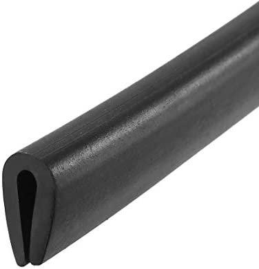 uxcell Edge Trim U Seal Black PVC Plastic U Channel Edge Protector Fits 1 16 3 32 Edge 10 Feet product image