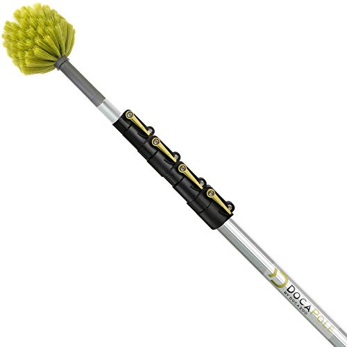 DocaPole 7-30 Foot Extension Pole with Cobweb Duster // Ceiling and Corner Duster // for Dusting and Cleaning High Ceilings and Corners with Extension Pole // Telescopic Pole Dusting and Cleaning Kit…
