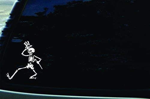 SFD 5.5' X 6' Dancing Skeleton Vinyl Die Cut Decal for Your Car, Truck, Laptop, Window