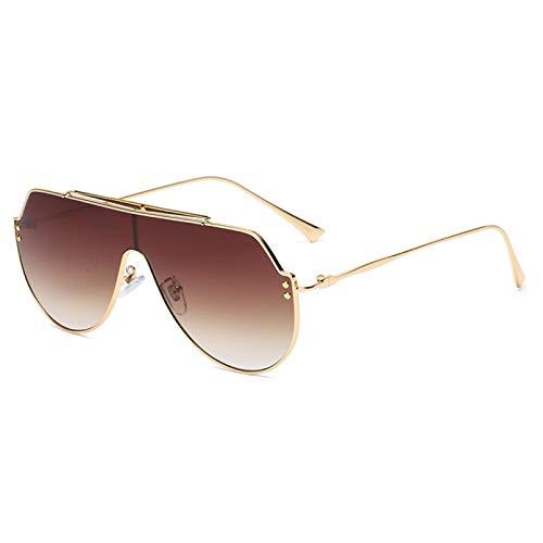 SXRAI Gafas de Sol para Hombre Gafas de Sol de Gran tamaño a la Moda Gafas de Sol para Mujer Gafas de Sol para Mujer Uv400,C4
