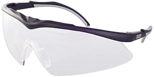 MSA Safety TecTor Opirock Ballistische Schutzbrille UV400 + Mikrofaserbeutel und Kordel, Farbe: klar