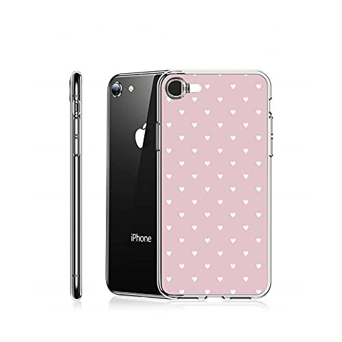 love heart pattern lindo teléfono caso transparente para el iPhone para Samsung A S 11 12 6 7 8 9 10 20 Pro X XS Max XR Plus lite-a1-iphone xs max