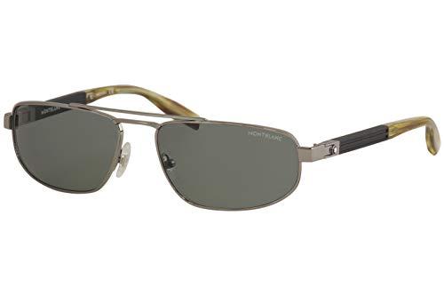 Gafas de sol Montblanc MB 0033 S- 004 RUTHENIUM/VERDE NEGRO