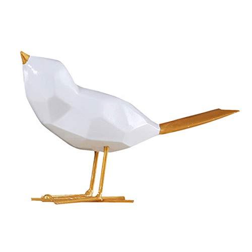 Wyi Figuras de pájaro de resina modernas para decoración del hogar, oficina, escritorio, estatua de pájaro, regalo de manualidades, color dorado