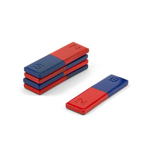 first4magnets - Barra de ferrita magnética, con Norte y Sur marcados, Gris, 16x 4x 50mm, 5Unidades