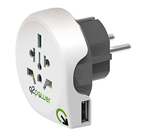Power Travel Adaptor World to EU USB