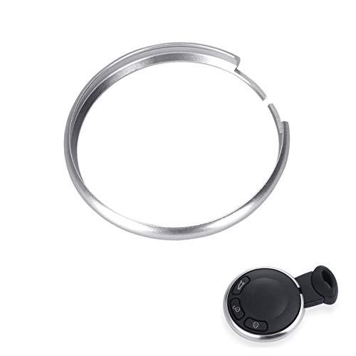 MLING Aluminiumlegierung Schlüsselring Fernbedienungen Schlüssel Dekoration Kompatibel für Cooper JCW R55 R56 R57 R58 R59 R60 R61 (Silber)