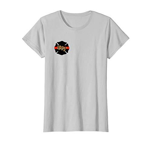 Womens Firefighter Wife T-Shirt I Love My Firefighter Shirt T-Shirt