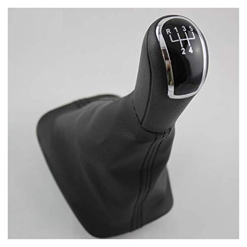 Piezas de automóvil aptas para Skoda Fabia 1 MKI 2000 2001 2002 2003 2004 2005 2006 2007 2008 Car-Styling 5 velocidades Palanca de cambios de coche Pomo de cambio Bota de cuero